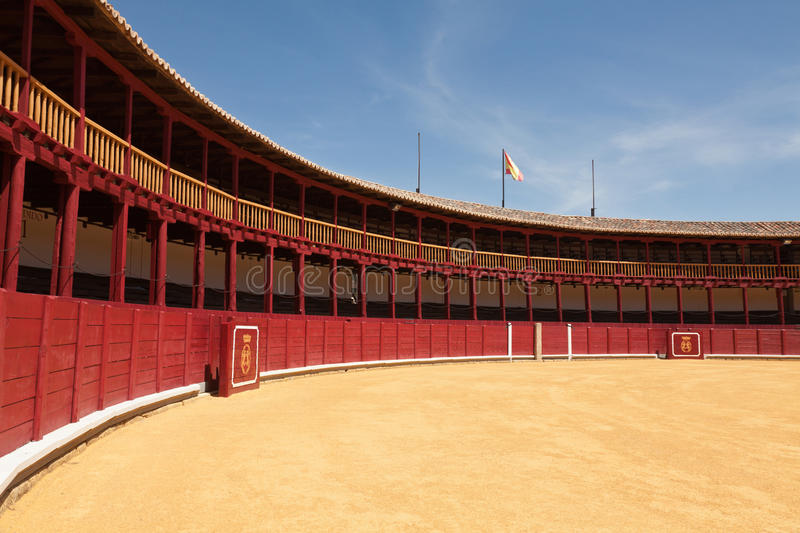 Bullring. Of Toro in Zamora, Spain, with the shield of the city royalty free stock photography