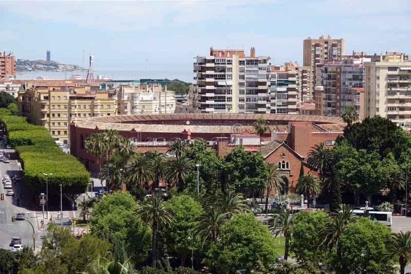 Plaza de Toros de La Malagueta in Malaga, Spain. Bullring arena Plaza de Toros de La Malagueta at the mediterranean sea side in Malaga in Andalusia, Spain royalty free stock image
