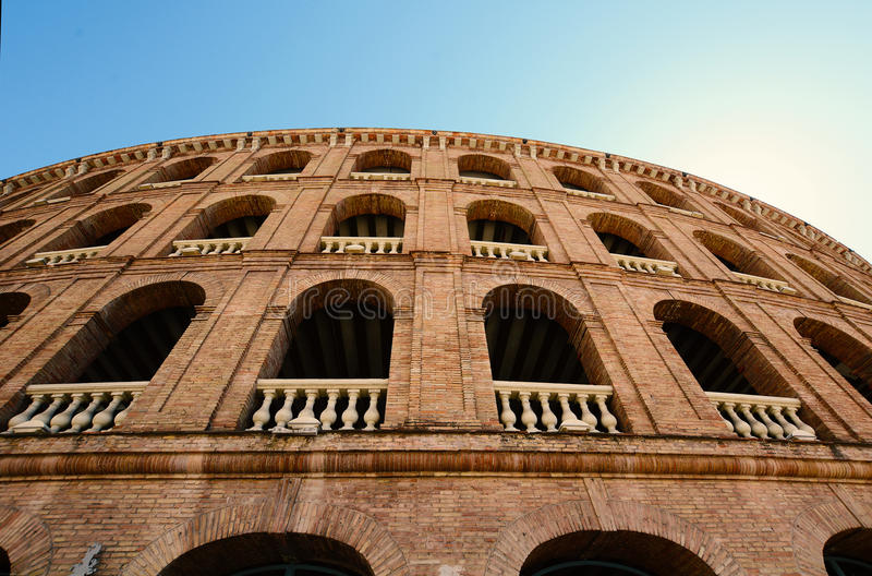 Bullring arena Plaza de Toros in Valencia. stock photos