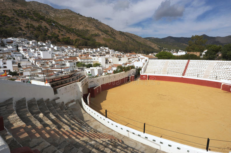 Bullring at Mijas. With mountains in teh background royalty free stock images