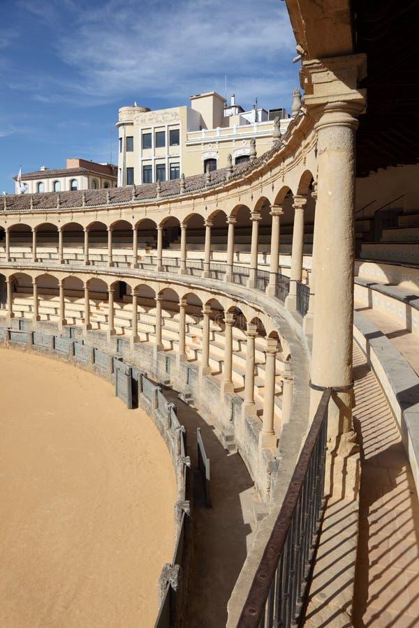 Download Bullring in Ronda, Spain stock image. Image of interior - 26262069