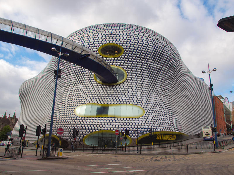 Bullring shopping and leisure complex in Birmingham royalty free stock images