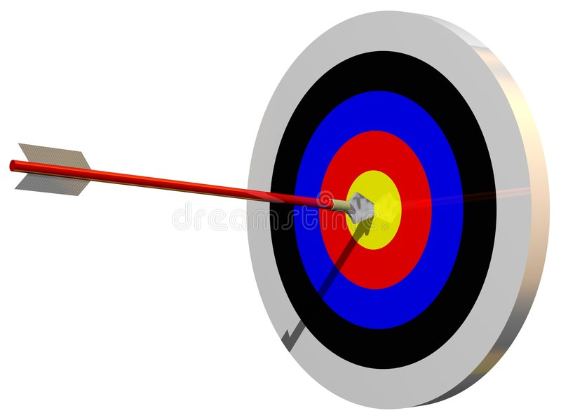 Bulls Eye royalty free illustration