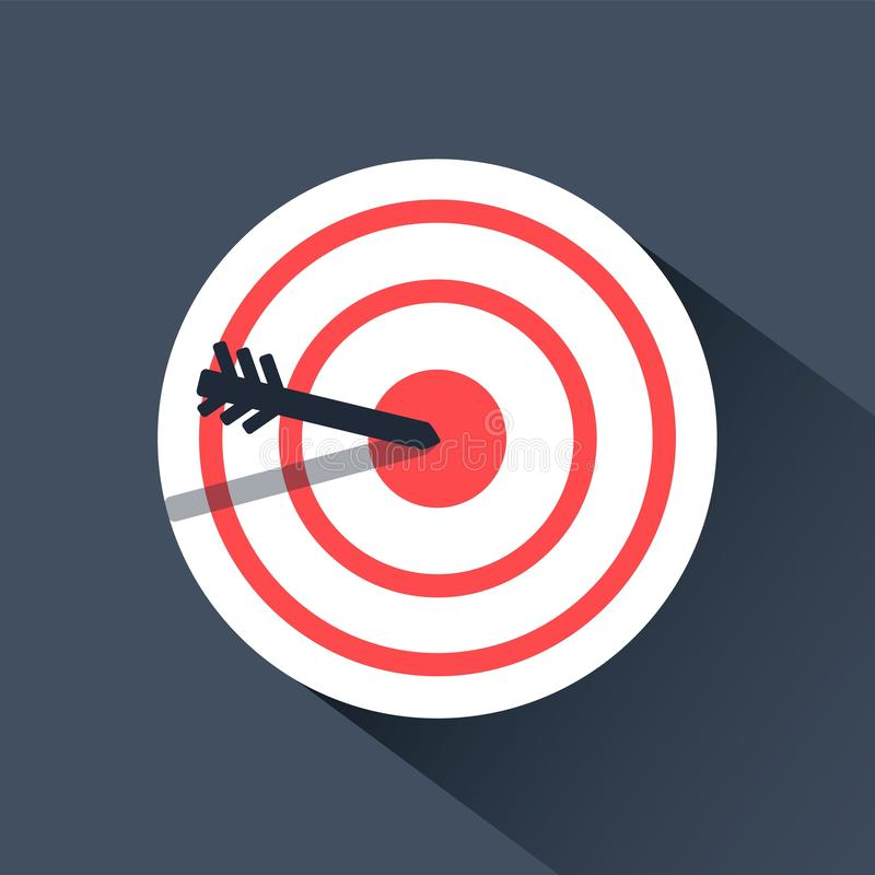 Bulls eye icon. archery flat infographic design royalty free illustration