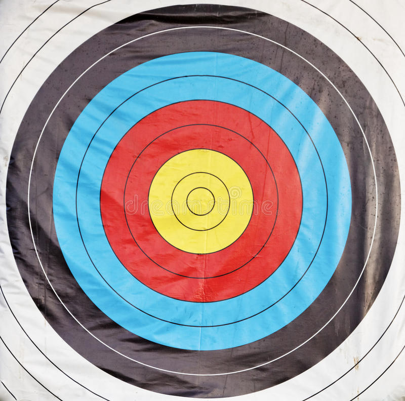 Bulls eye target stock photos