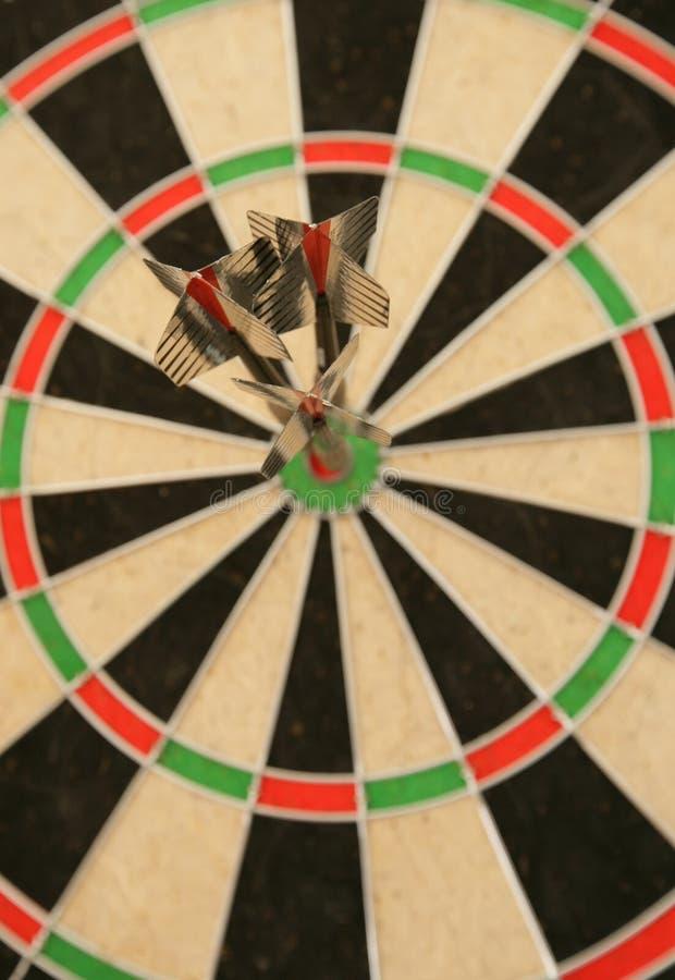 bullseye βέλη τρία στοκ φωτογραφία με δικαίωμα ελεύθερης χρήσης