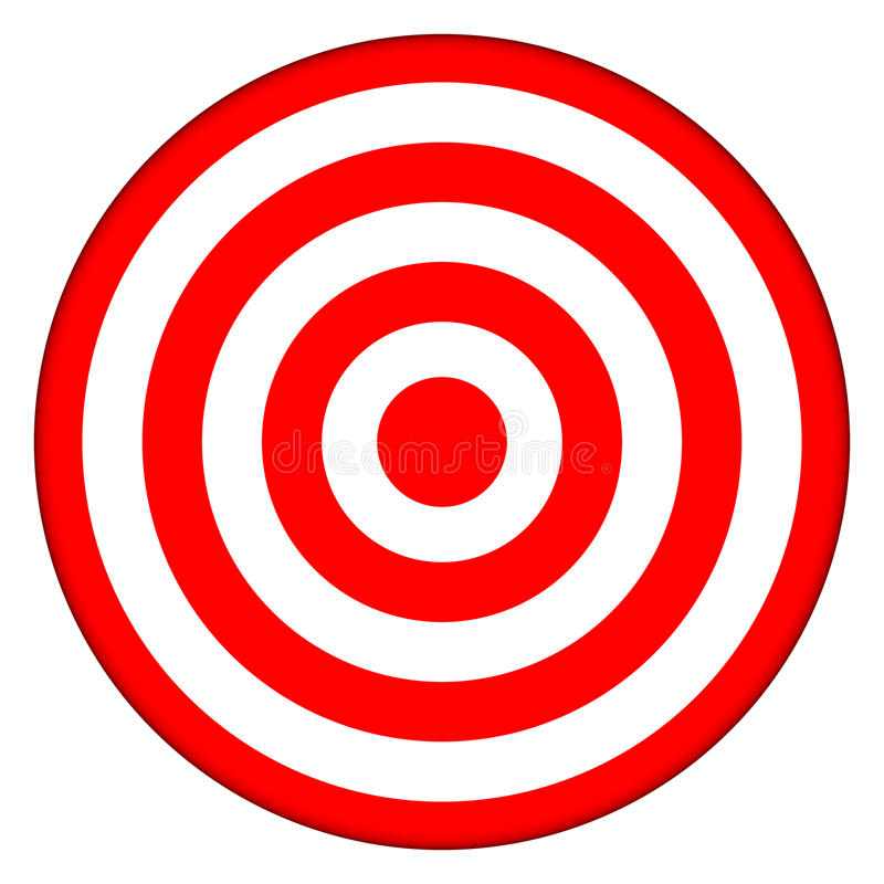 bullseye στόχος διανυσματική απεικόνιση