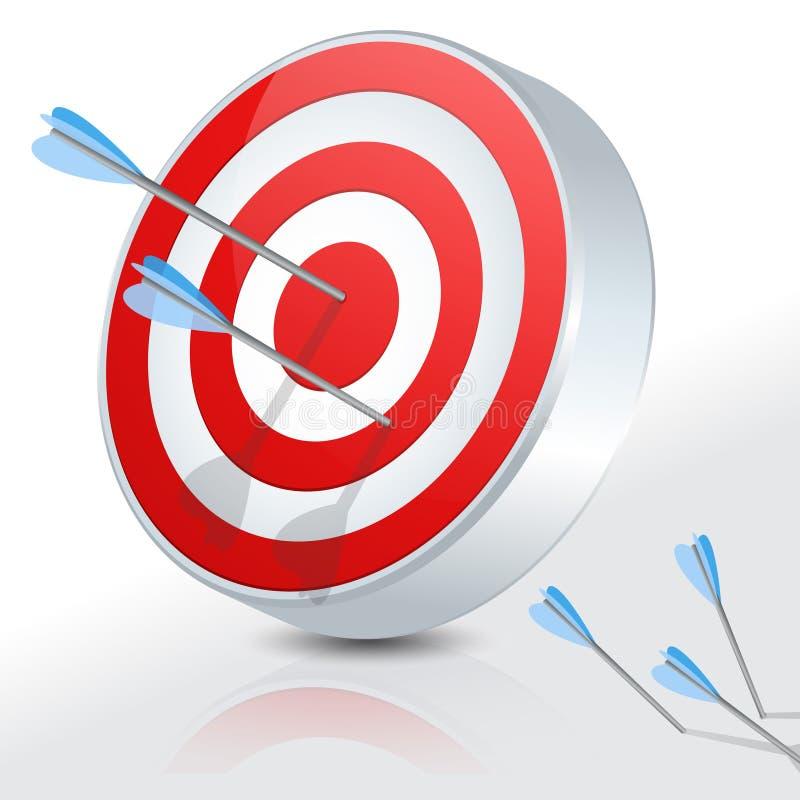 Bullseye τρισδιάστατο ελεύθερη απεικόνιση δικαιώματος