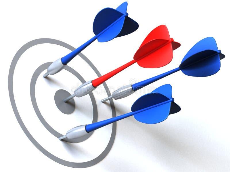 Bullseye illustrazione di stock