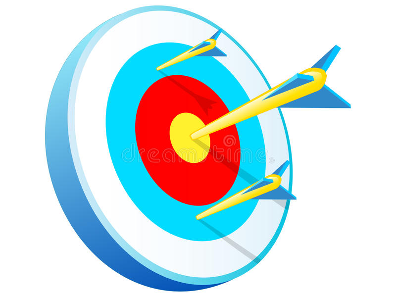 Bullseye ilustração stock