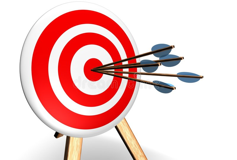 bullseye stock illustrationer