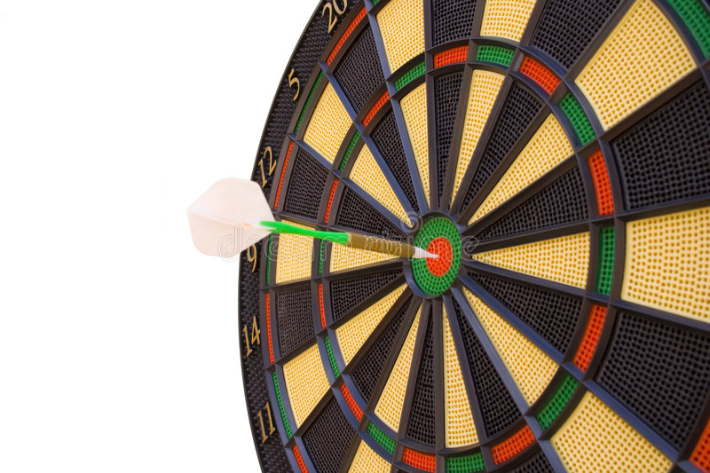Bullseye 4. Make your way to success, hit the target royalty free stock image