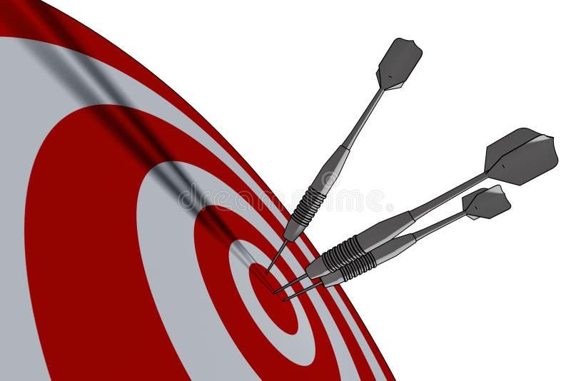 Bullseye. Business concept - 3d illustration stock illustration