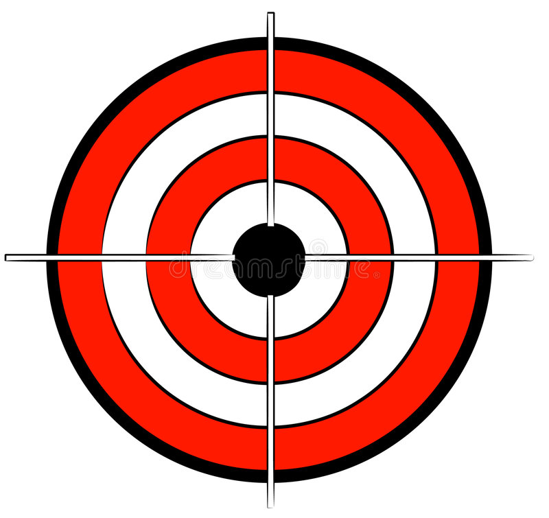 bullseye royaltyfri illustrationer