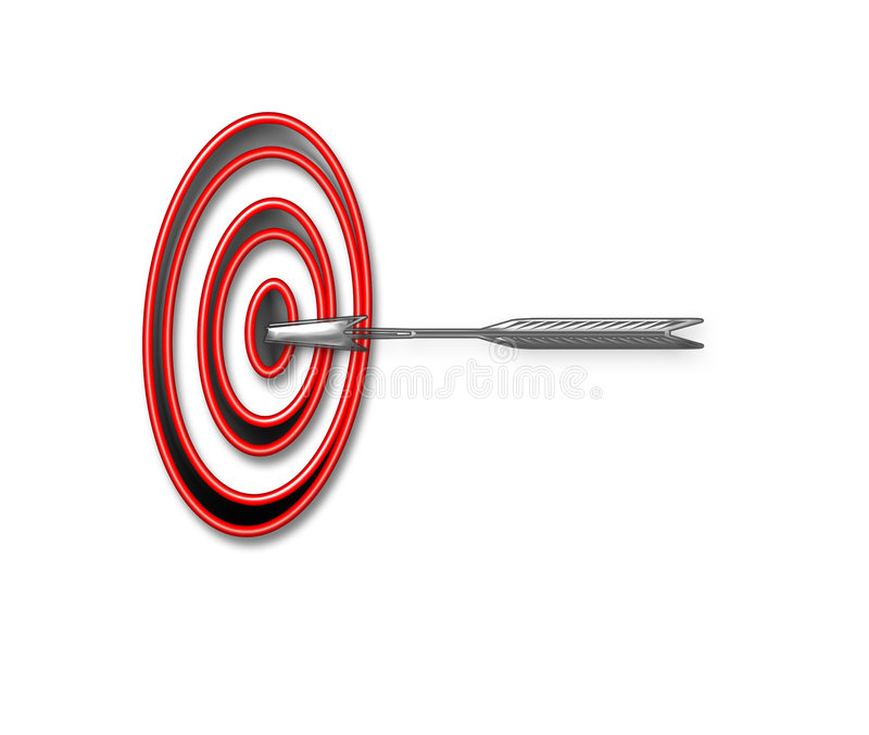 Bullseye stock illustration