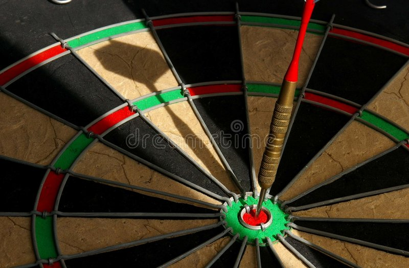 Bullseye! fotografia de stock