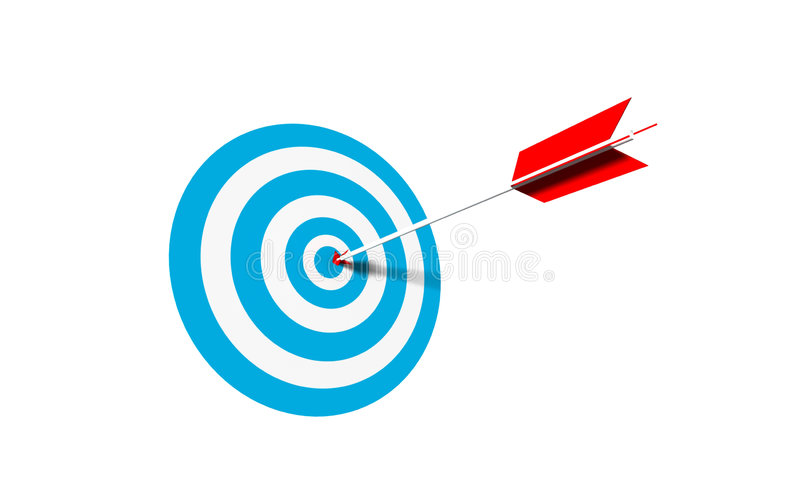 Bullseye. Business concept - 3d illustration royalty free illustration