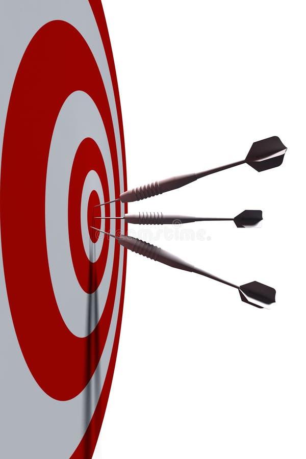 Bullseye. Business concept - 3d illustration vector illustration