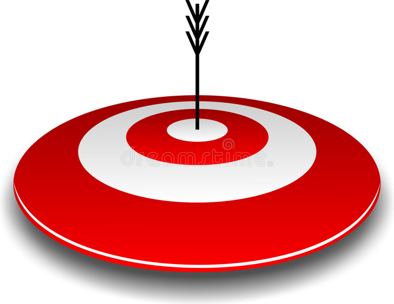 Download Bullseye and Arrow stock illustration. Image of archer - 293068
