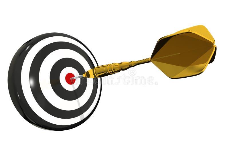 Bullseye da placa de dardo - isolado ilustração royalty free