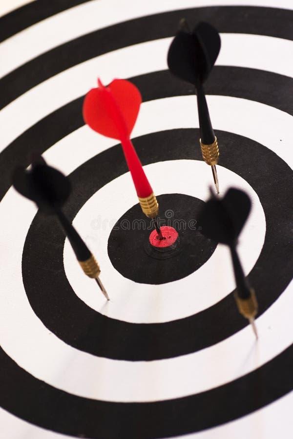 Bullseye (direito no alvo) foto de stock