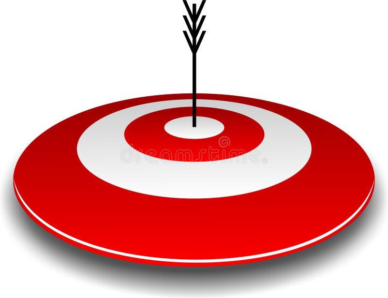 Bullseye en Pijl royalty-vrije stock foto's