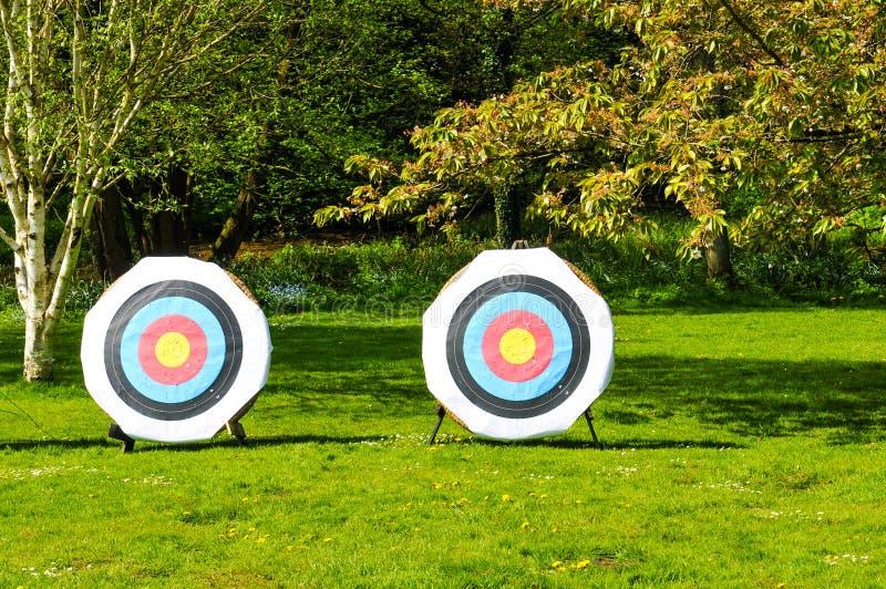Bullseye i naturen - sportar eller affärsidé fotografering för bildbyråer