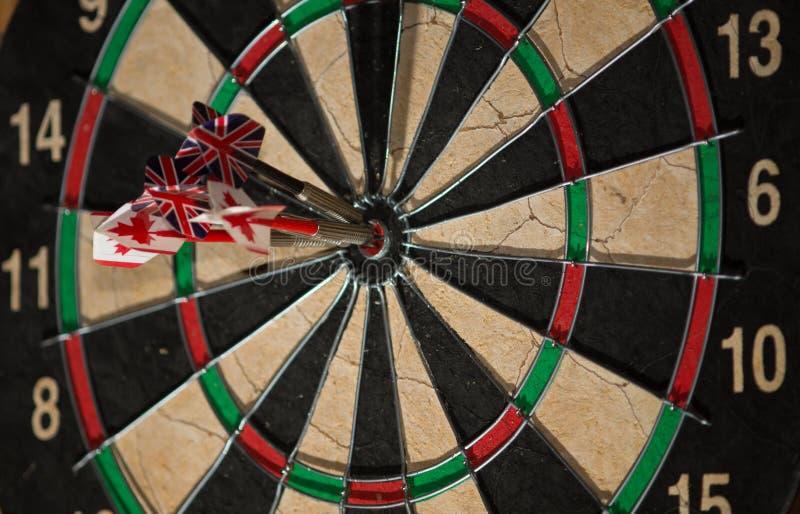 Bullseye - kanadyjczyk & Brytyjski zdjęcia royalty free