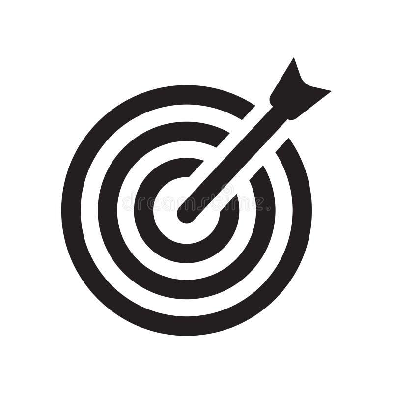 Bullseye med målsymbolsymbolen Moderiktig Bullseye med det sy målet royaltyfria bilder