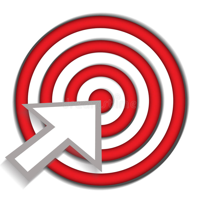 Bullseye success target royalty free illustration