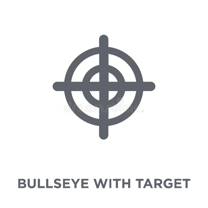 Bullseye with target symbol icon from Productivity collection. Bullseye with target symbol icon. Bullseye with target symbol design concept from Productivity vector illustration