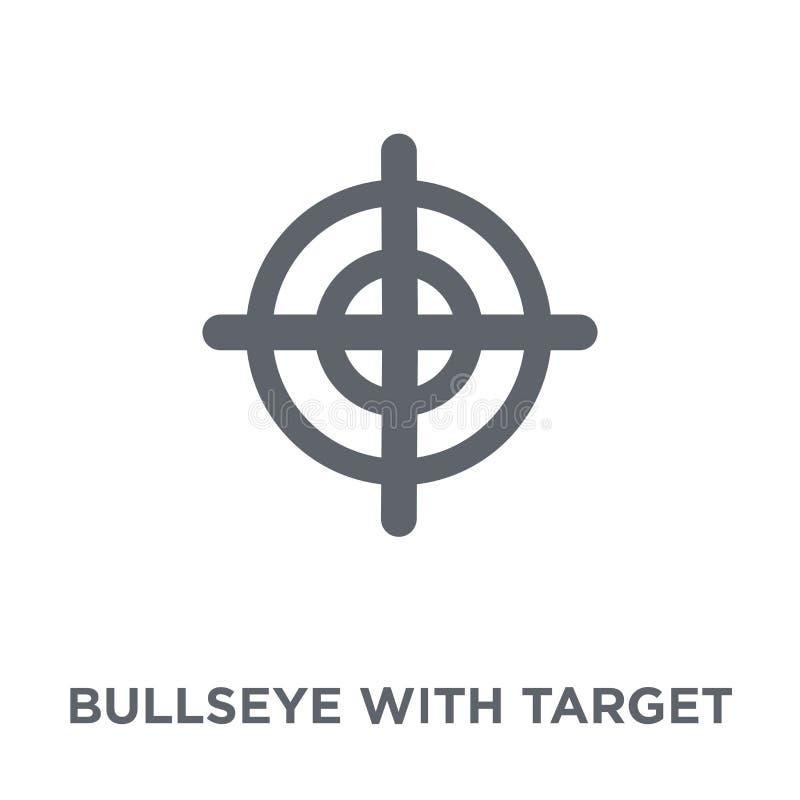 Bullseye z celu symbolu ikoną od produktywności kolekcji ilustracja wektor