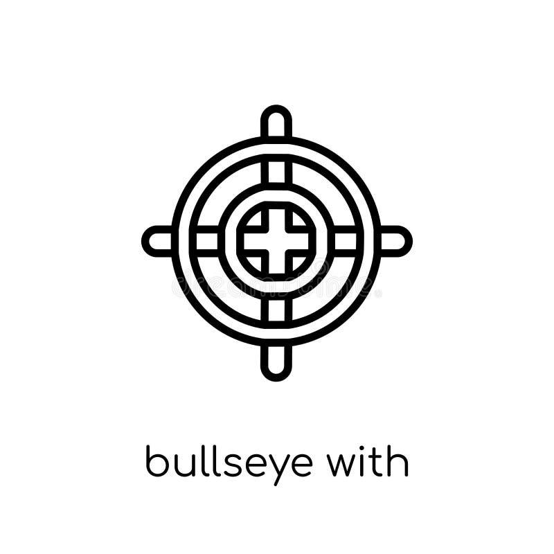 Bullseye z celu symbolu ikoną od produktywności kolekcji royalty ilustracja