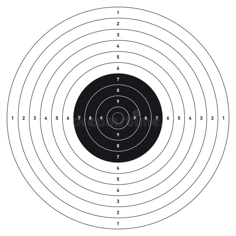 Bullseyeskyttemål royaltyfri foto