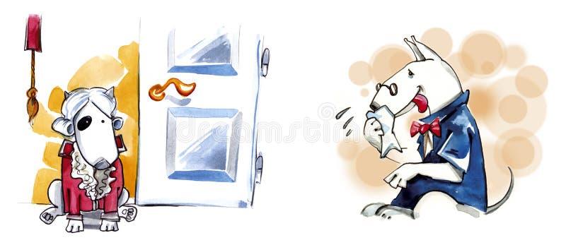 Download Bullterrier dog noble stock illustration. Image of footman - 8140815