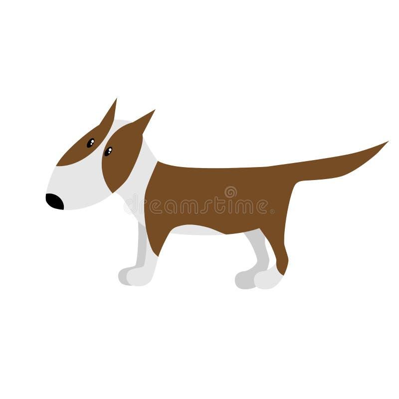 Bullterrierhundvektor royaltyfri illustrationer
