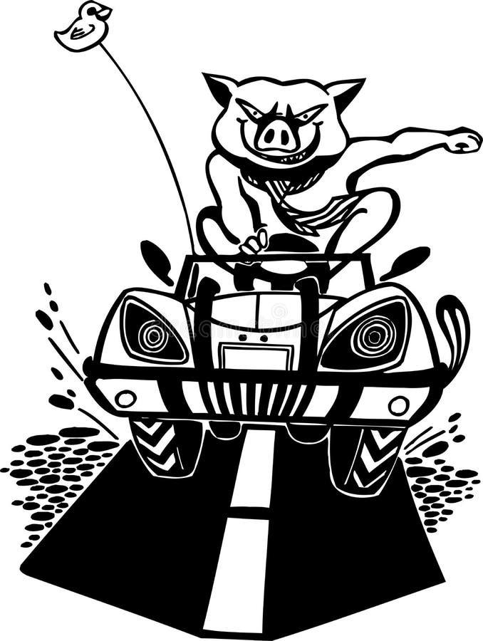 Bully pig. Vector illustration. Bully pig. Vinyl-ready vector design vector illustration