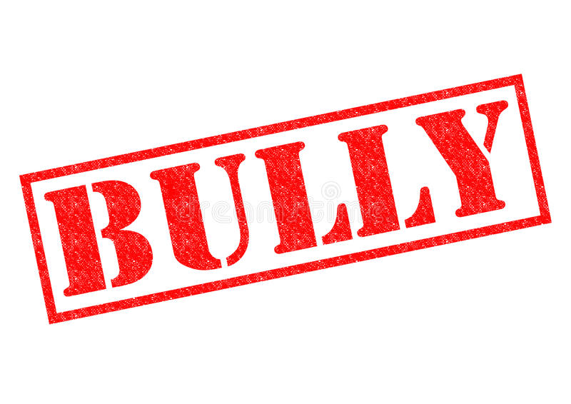 BULLY. Red Rubber Stamp over a white background stock illustration