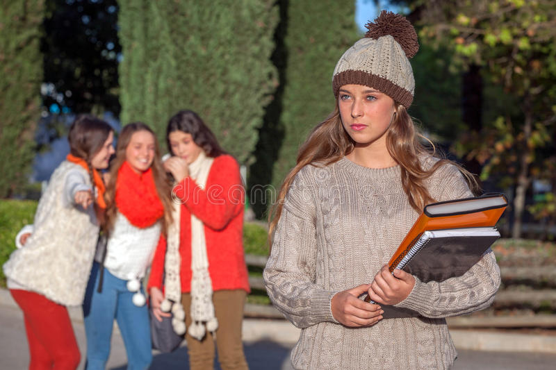 Bully teenagers stock images