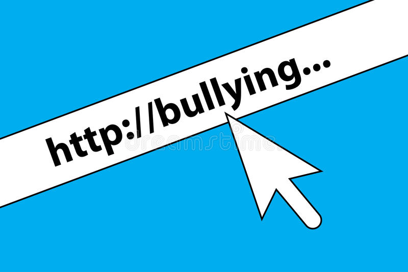 Bullying concept royalty free illustration