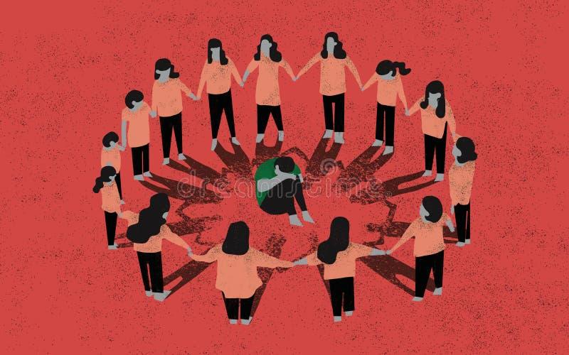 bullying Ilustraci?n del concepto Escena de tiranizar a un niño ilustración del vector