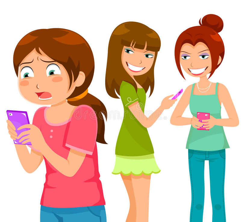 Free Bullying Through Cell Phone Royalty Free Stock Photo - 41419355