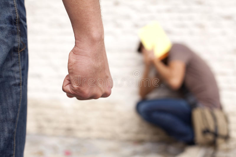 Download Bullying Victim stock image. Image of hitting, fear, contrasts - 16743311