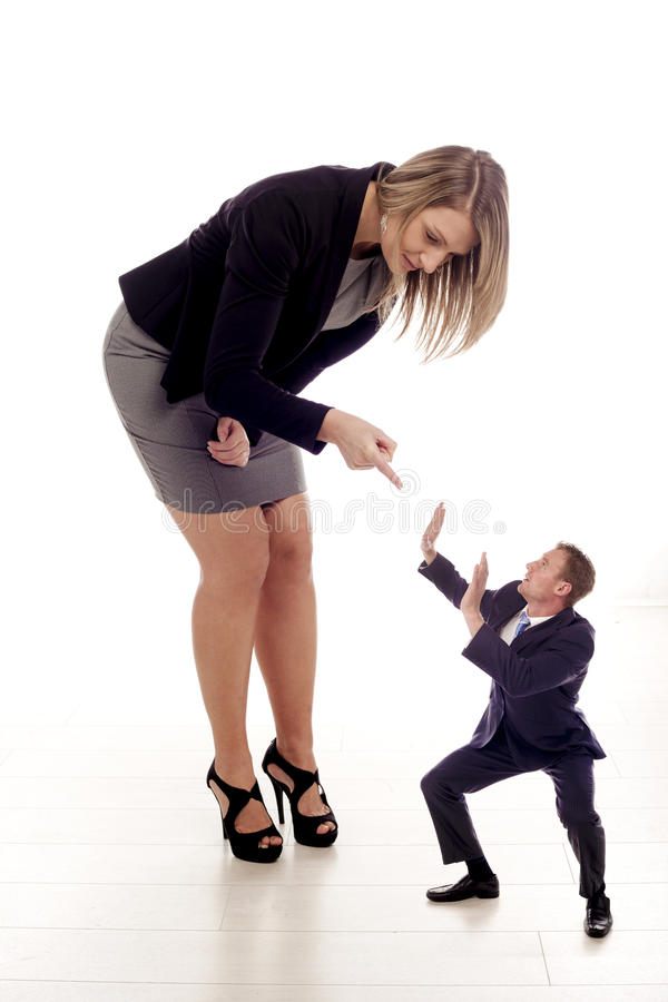 Bullying in the workplace. royalty free stock photos