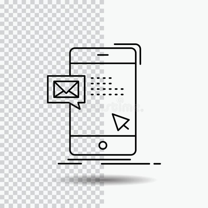 bulto, di?logo, instante, correo, l?nea de mensaje icono en fondo transparente Ejemplo negro del vector del icono libre illustration