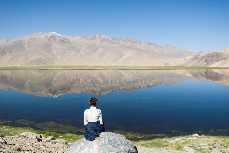 Bulunkul κατά μήκος της Pamir εθνικής οδού, που λαμβάνεται στο Τατζικιστάν που λαμβάνεται τον Αύγουστο του 2018 στο hdr στοκ εικόνες με δικαίωμα ελεύθερης χρήσης