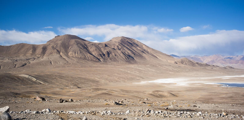 Bulunkul, Τατζικιστάν: Όμορφη άποψη Pamir Τατζικιστάν στοκ εικόνες με δικαίωμα ελεύθερης χρήσης