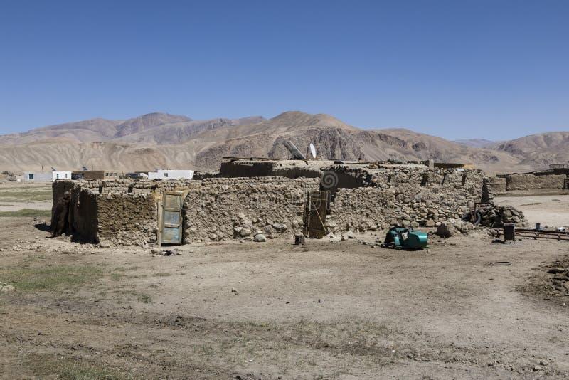 Bulunkul, Tajikistan, August 23 2018: The secluded place Bulunkul in the Pamir Mountains. Bulunkul, Tajikistan, August 23 2018: The secluded place Bulunkul with stock photos