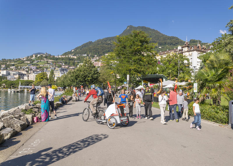 Bulwar w Montreux zdjęcia stock
