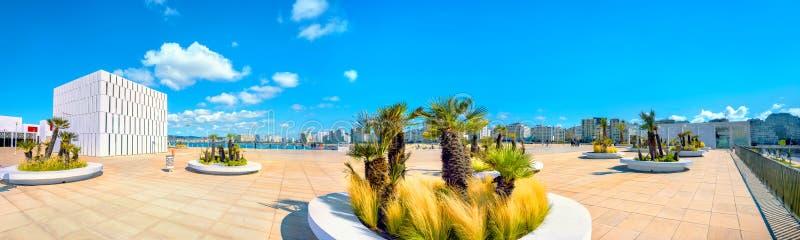 Bulwar w Tangier Ja także znał swój Portugalskim imieniem Mogador zdjęcia stock
